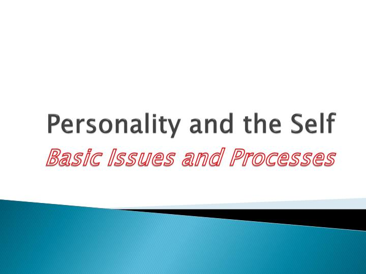 personality and the self n.