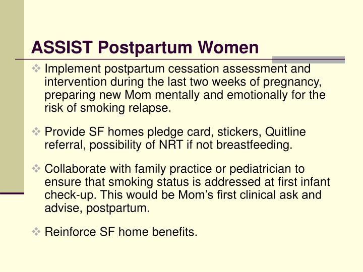 ASSIST Postpartum Women