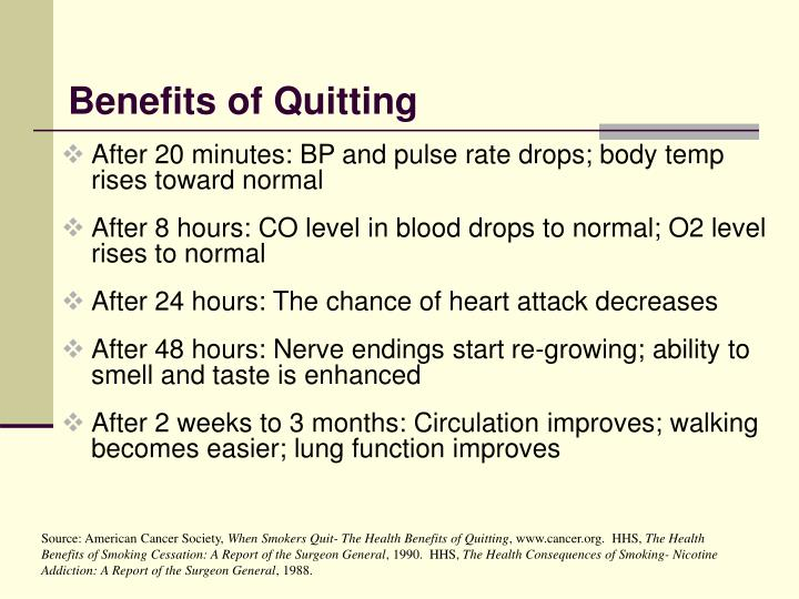 Benefits of Quitting