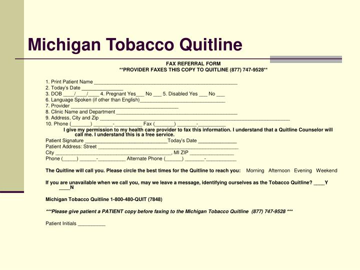 Michigan Tobacco Quitline