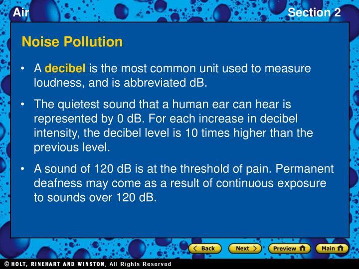 noise pollution measurement unit