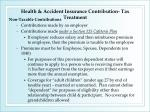 health accident insurance contribution tax treatment