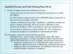 qualified pension and profit sharing plans 401 a1
