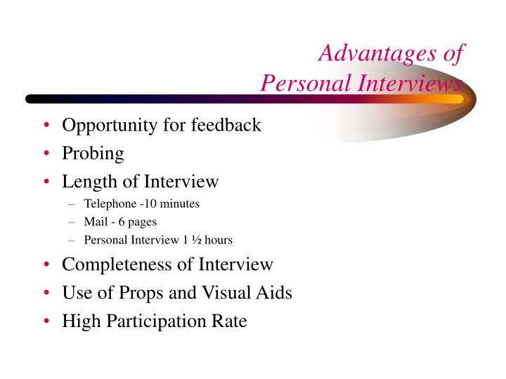 Opportunity for feedback