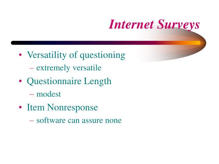 Versatility of questioning