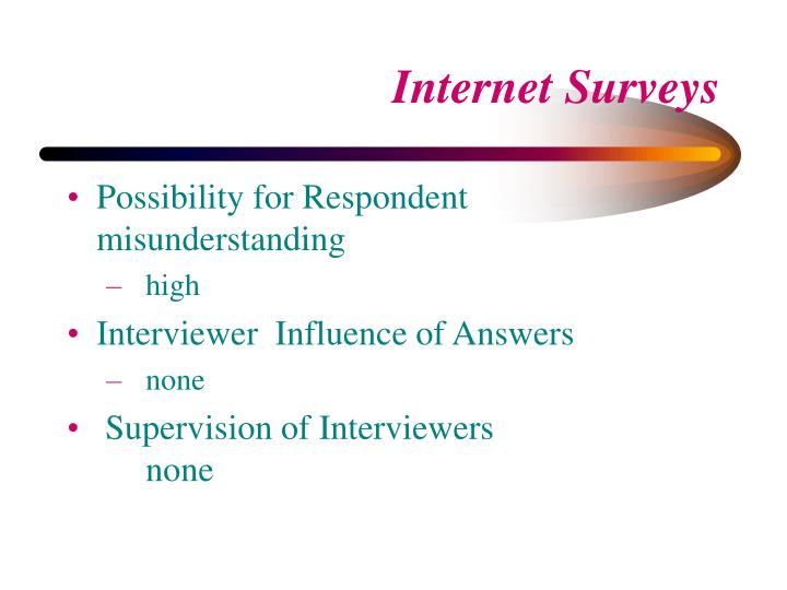 Possibility for Respondent misunderstanding