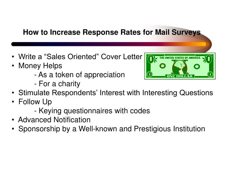 How to Increase Response Rates for Mail Surveys