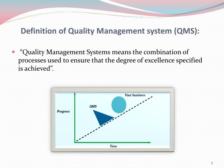 Definition of Quality Management system (QMS):