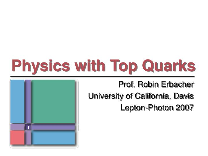 physics with top quarks n.