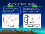 analog digital signals