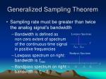 generalized sampling theorem