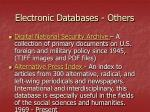 electronic databases others