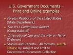 u s government documents print and online examples