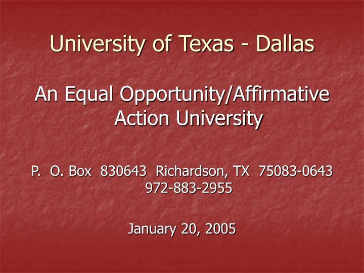 University of Texas - Dallas