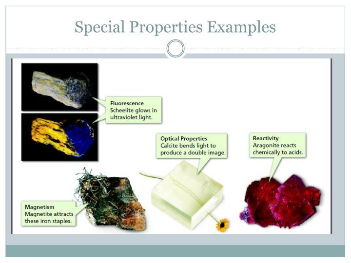 Special Properties Examples