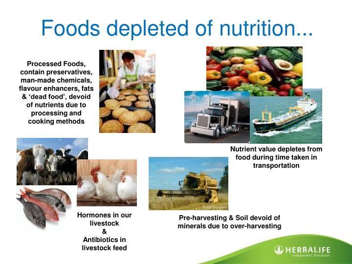 Foods depleted of nutrition...