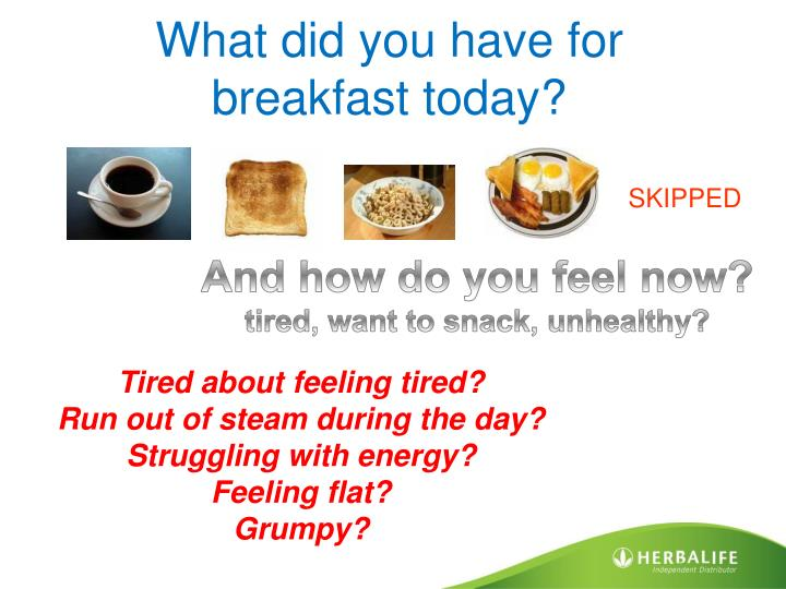 What did you have for breakfast today?