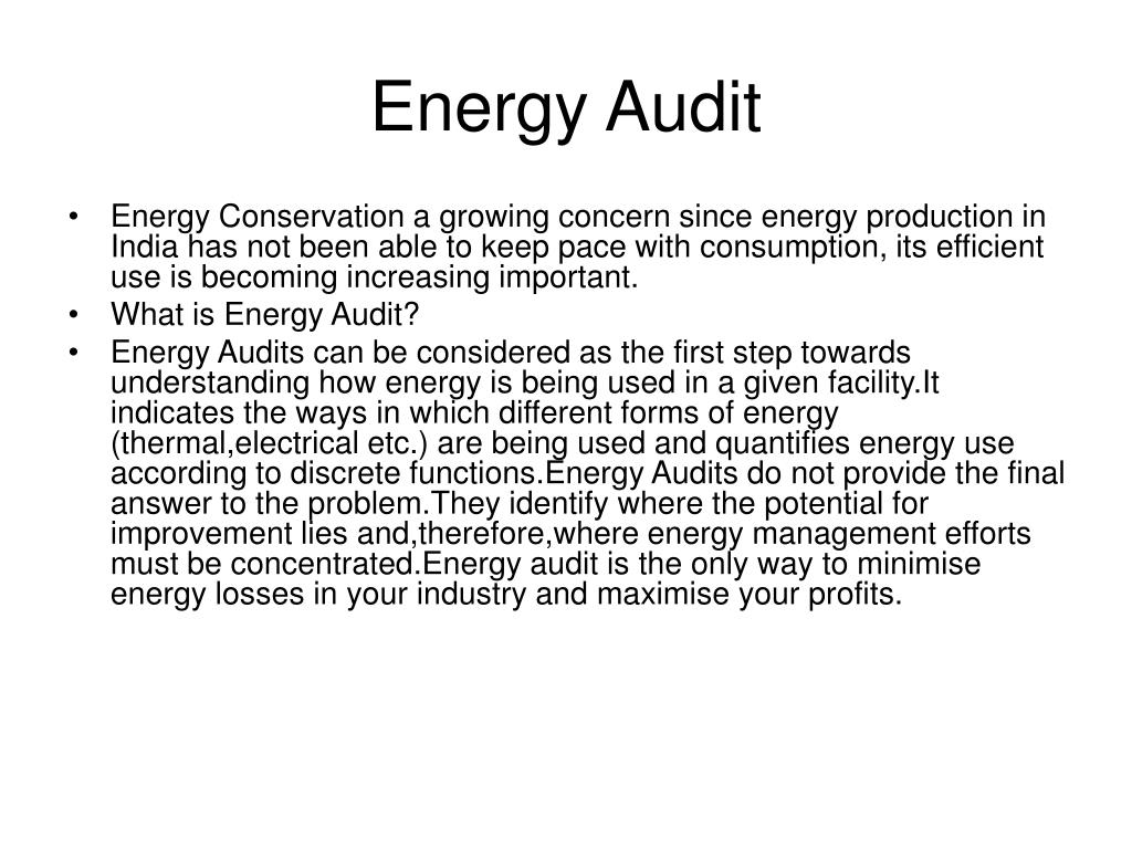 PPT - Energy Audit PowerPoint Presentation - ID:6568469