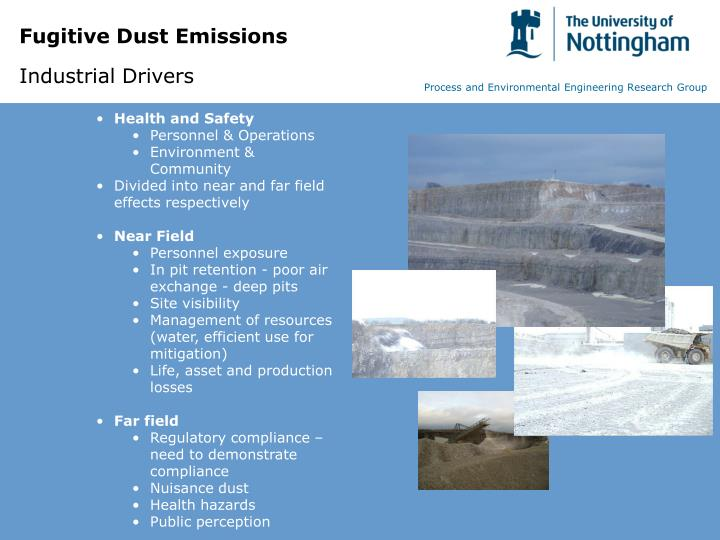 Fugitive dust emissions industrial drivers