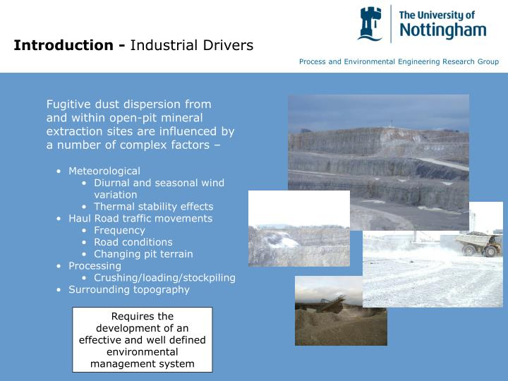 Introduction industrial drivers