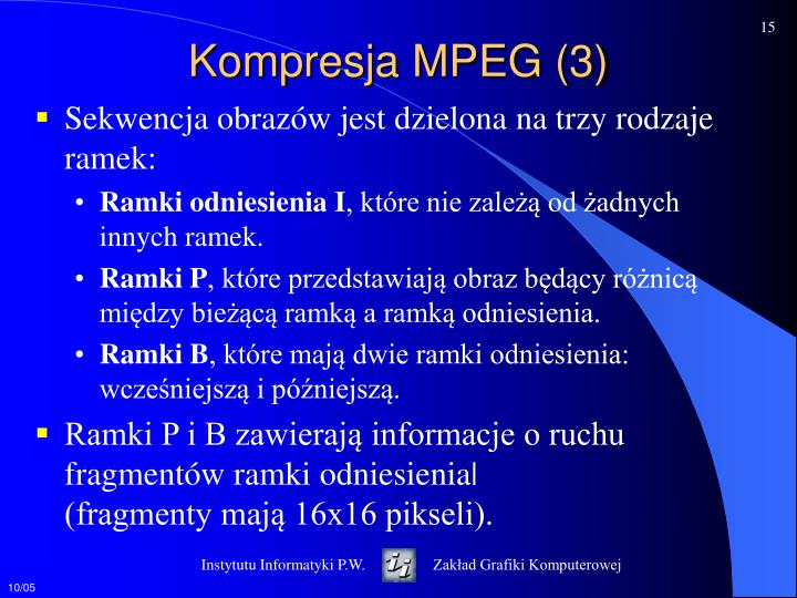 Kompresja MPEG (3)
