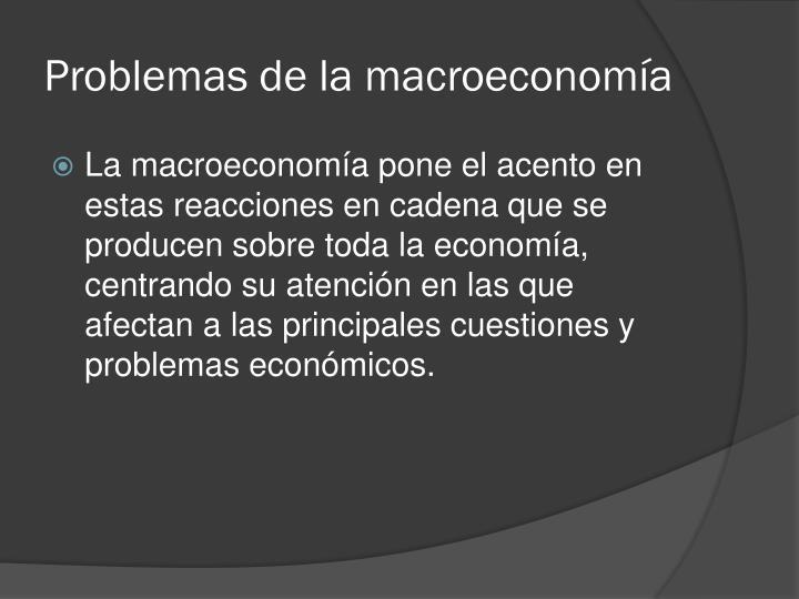 Problemas de la macroeconomía