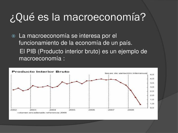 Qu es la macroeconom a