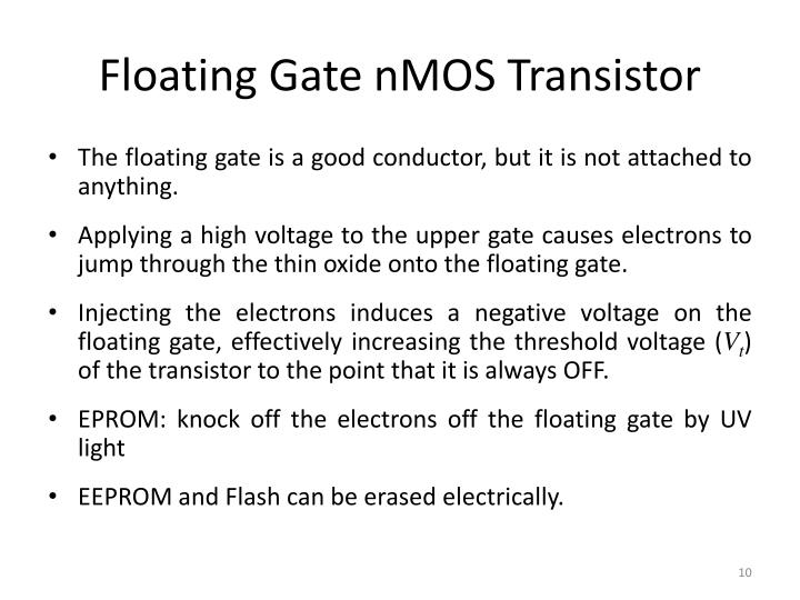 Floating Gate nMOS Transistor