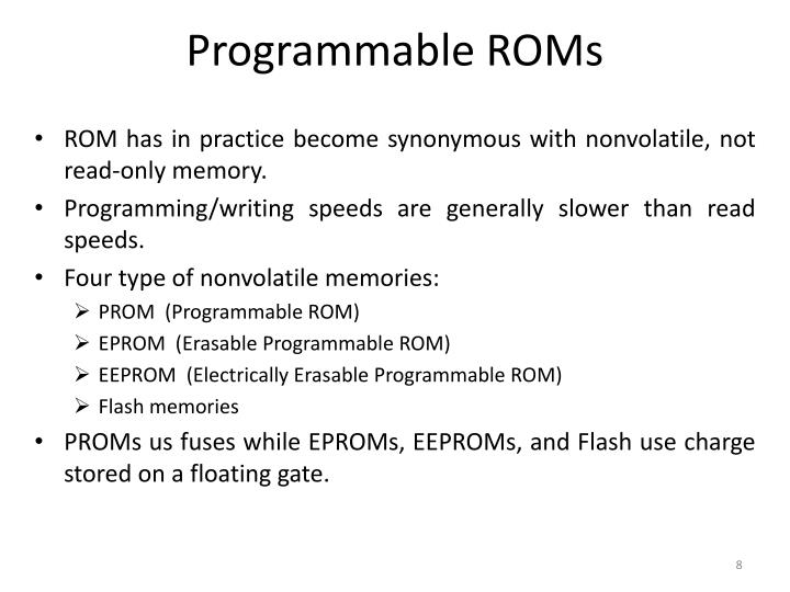 Programmable ROMs