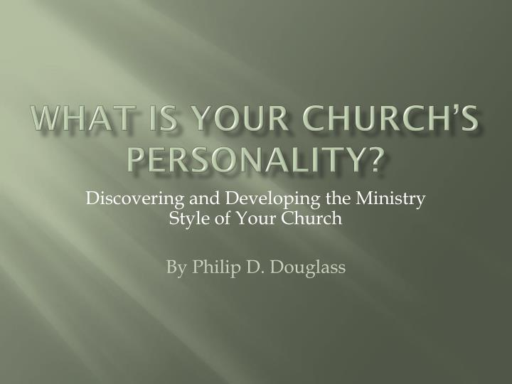 what is your church s personality n.