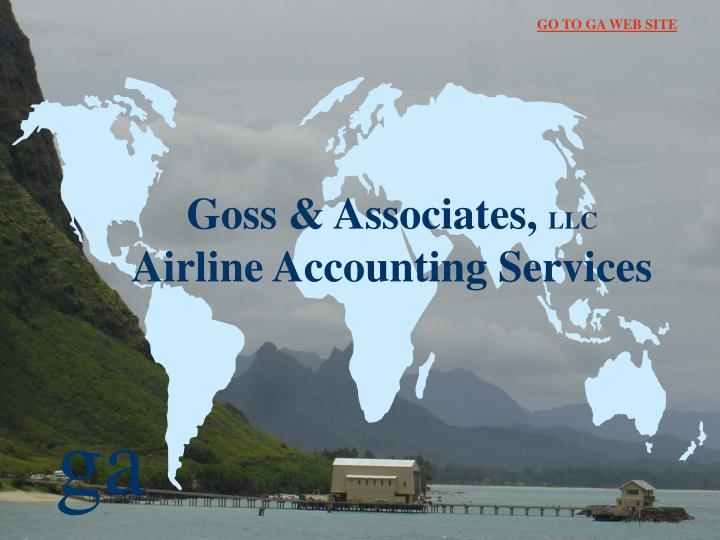goss associates llc airline accounting services n.