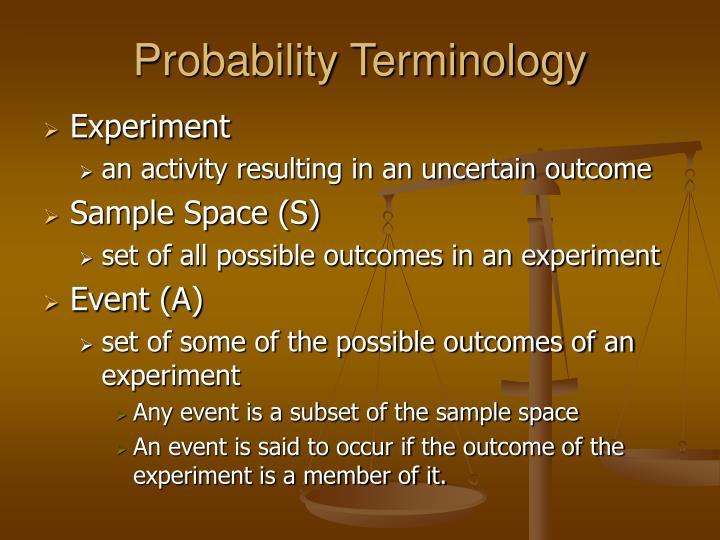 Probability Terminology