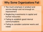 why some organizations fail1