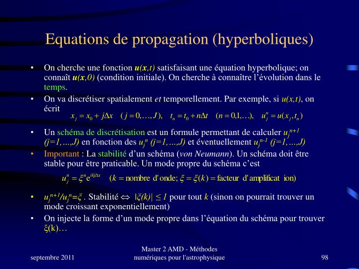 Equations de propagation (hyperboliques)