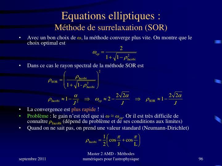 Equations elliptiques :