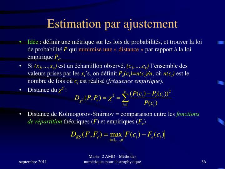Estimation par ajustement