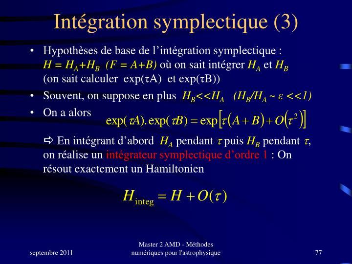Intégration symplectique (3)