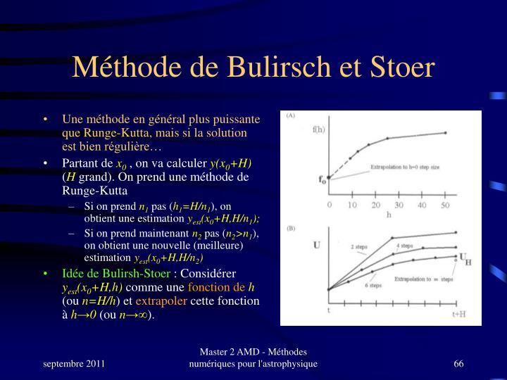Méthode de Bulirsch et Stoer
