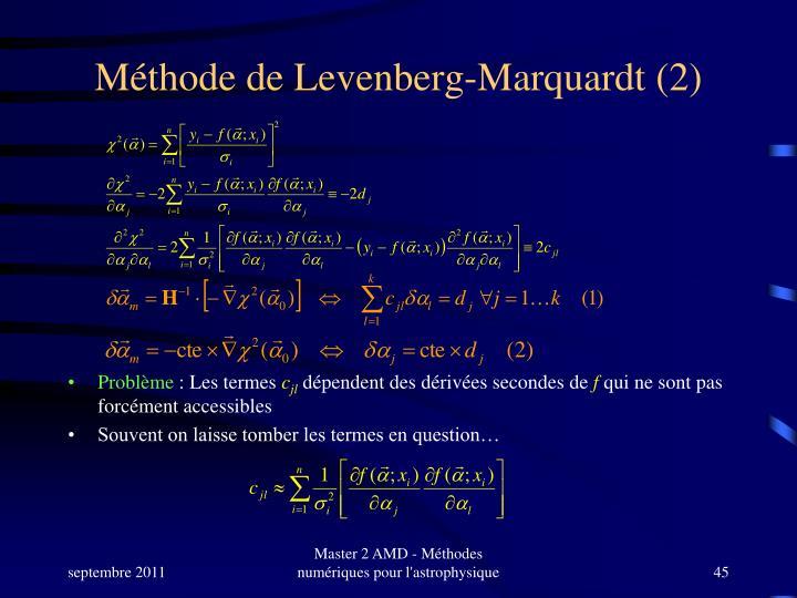 Méthode de Levenberg-Marquardt (2)