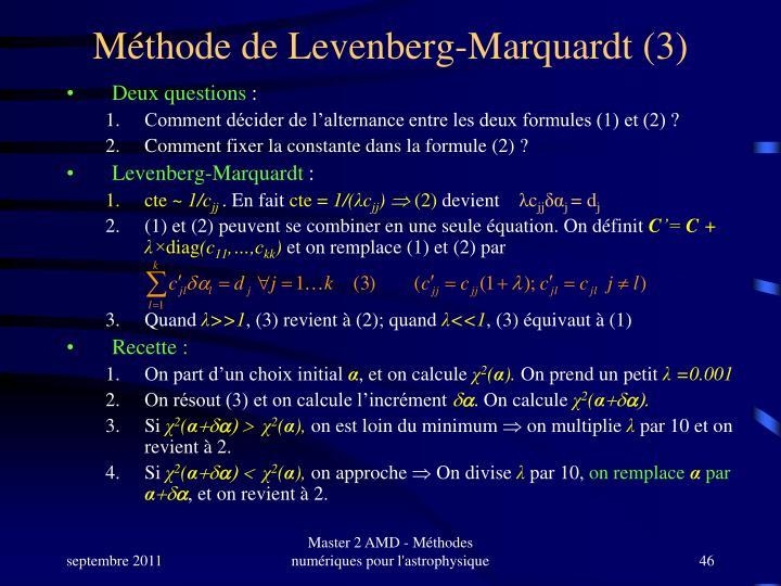 Méthode de Levenberg-Marquardt (3)