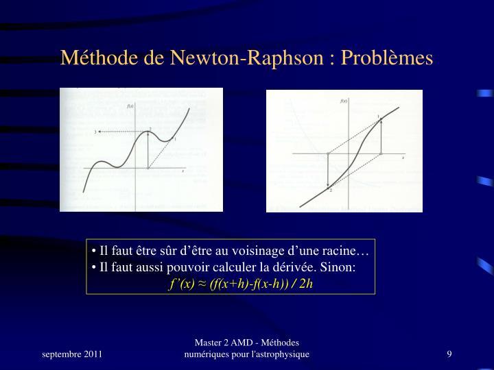 Méthode de Newton-Raphson : Problèmes