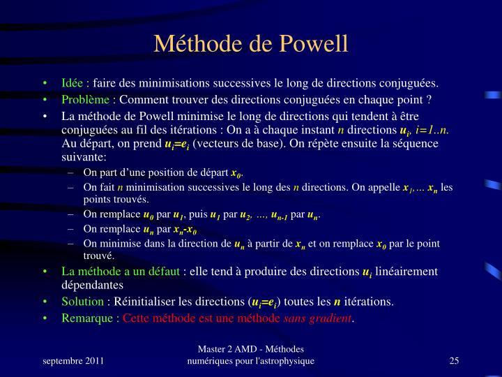 Méthode de Powell