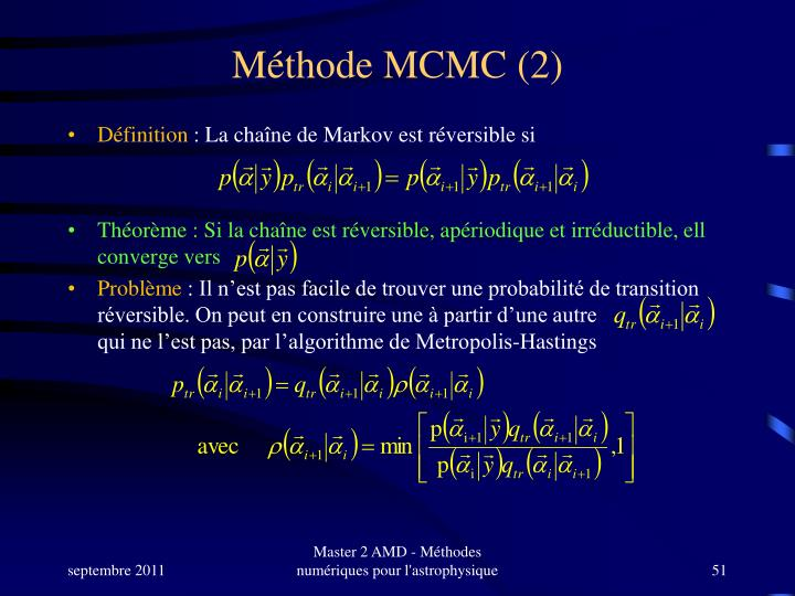 Méthode MCMC (2)