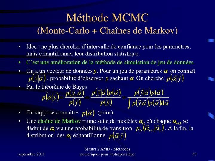 Méthode MCMC