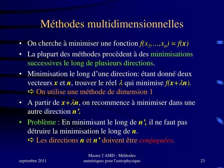 Méthodes multidimensionnelles