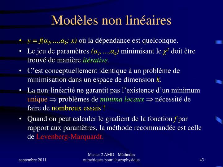 Modèles non linéaires