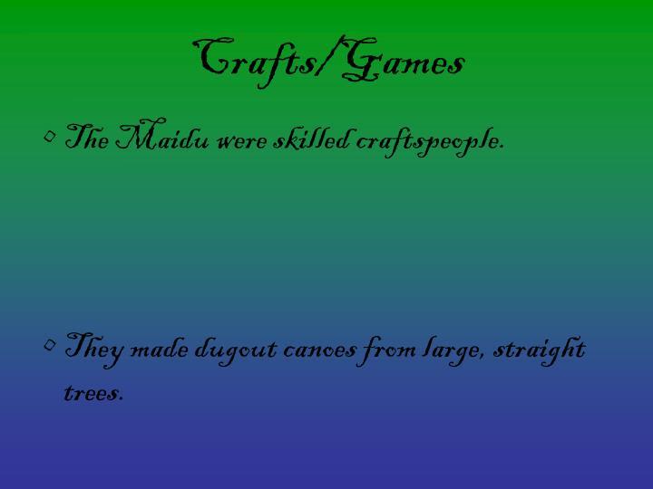 Crafts/Games
