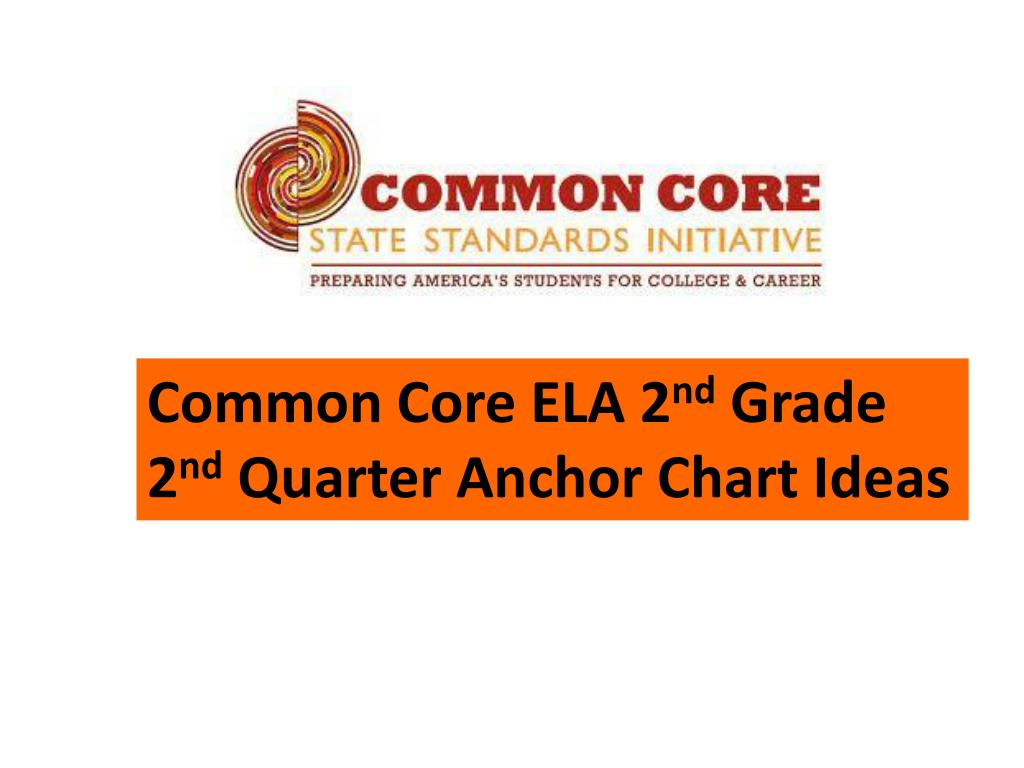 Ppt Common Core Ela 2 Nd Grade 2 Nd Quarter Anchor Chart Ideas Powerpoint Presentation Id6569112