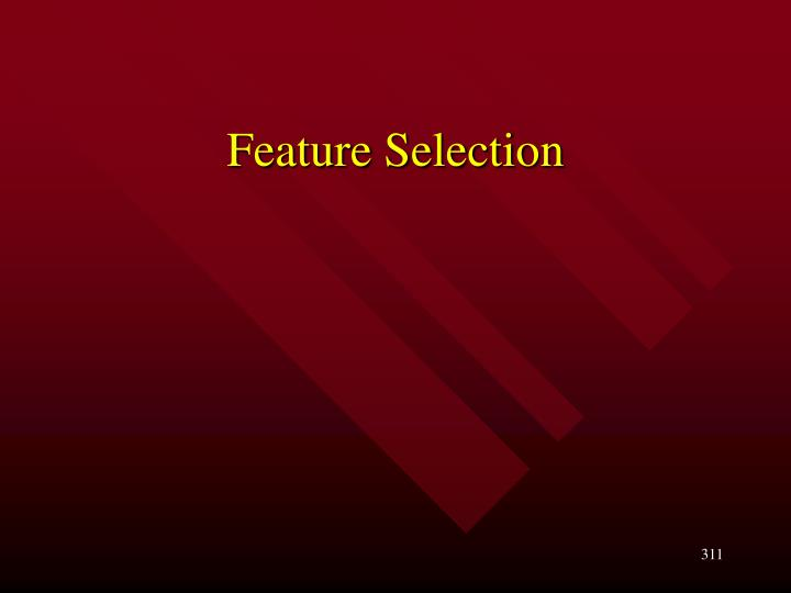 feature selection n.