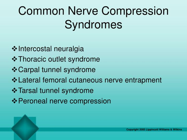 Common Nerve Compression Syndromes